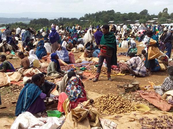 A rural market in Ethiopia