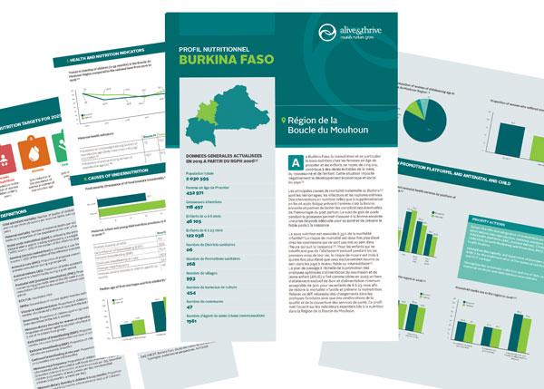 Burkina Faso profil nutritionnel