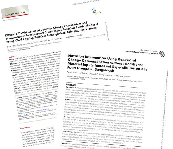 two new journal articles